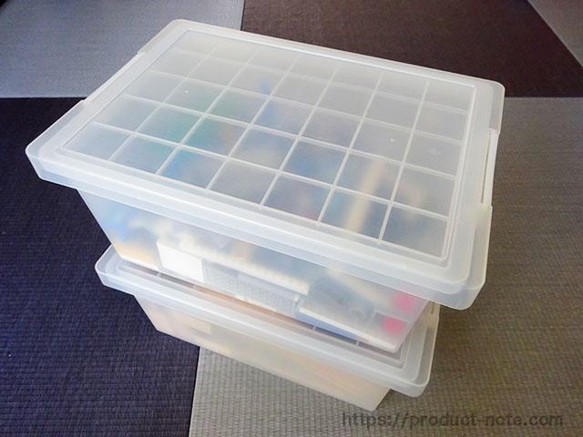 ポリプロピレンキャリーボックス2段積み