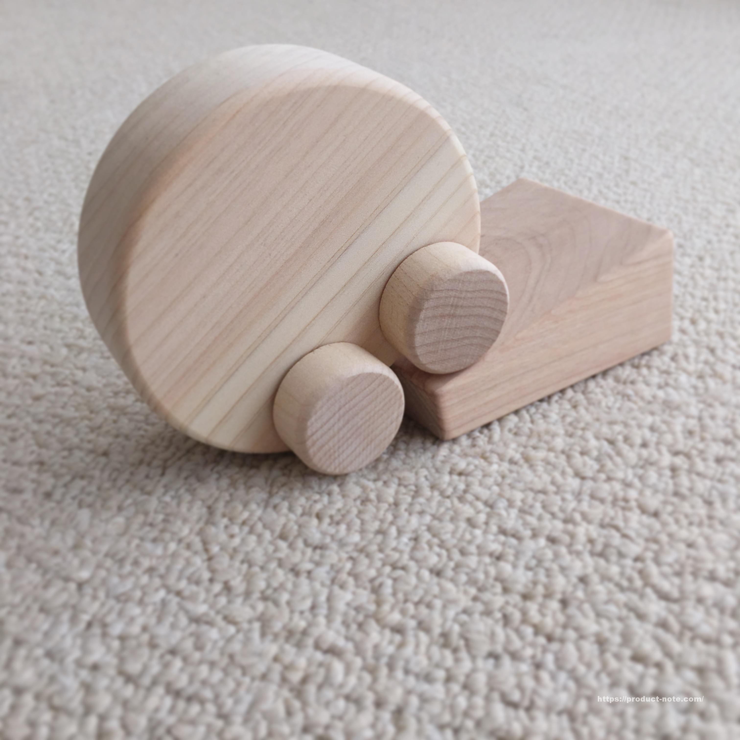 日本の木のおもちゃ くるりんカー MUJIカード 特典