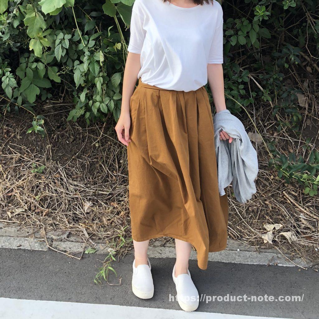 オーガニックコットン縦横ストレッチチノイージーバルーンスカート,無印良品
