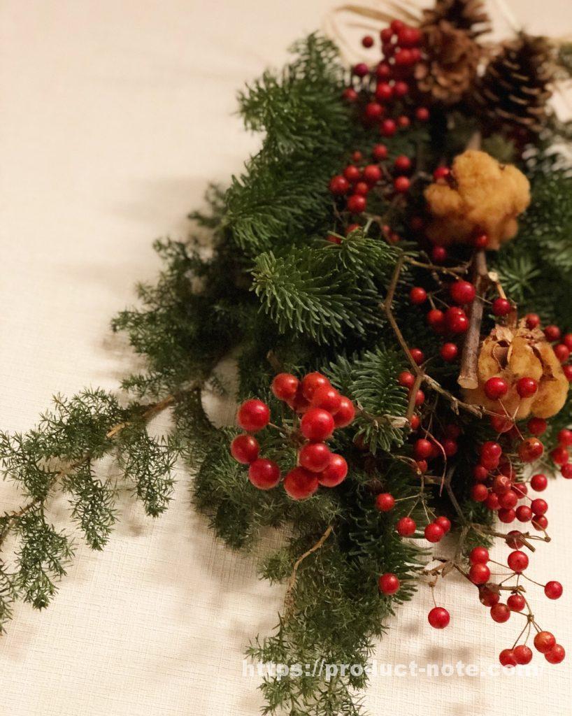 無印良品,クリスマススワッグ,飾りつけ