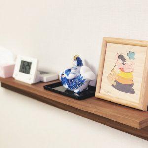壁に付けられる家具,棚,88cm,無印良品,五月人形,鯉のぼり,小黒三郎,組み木