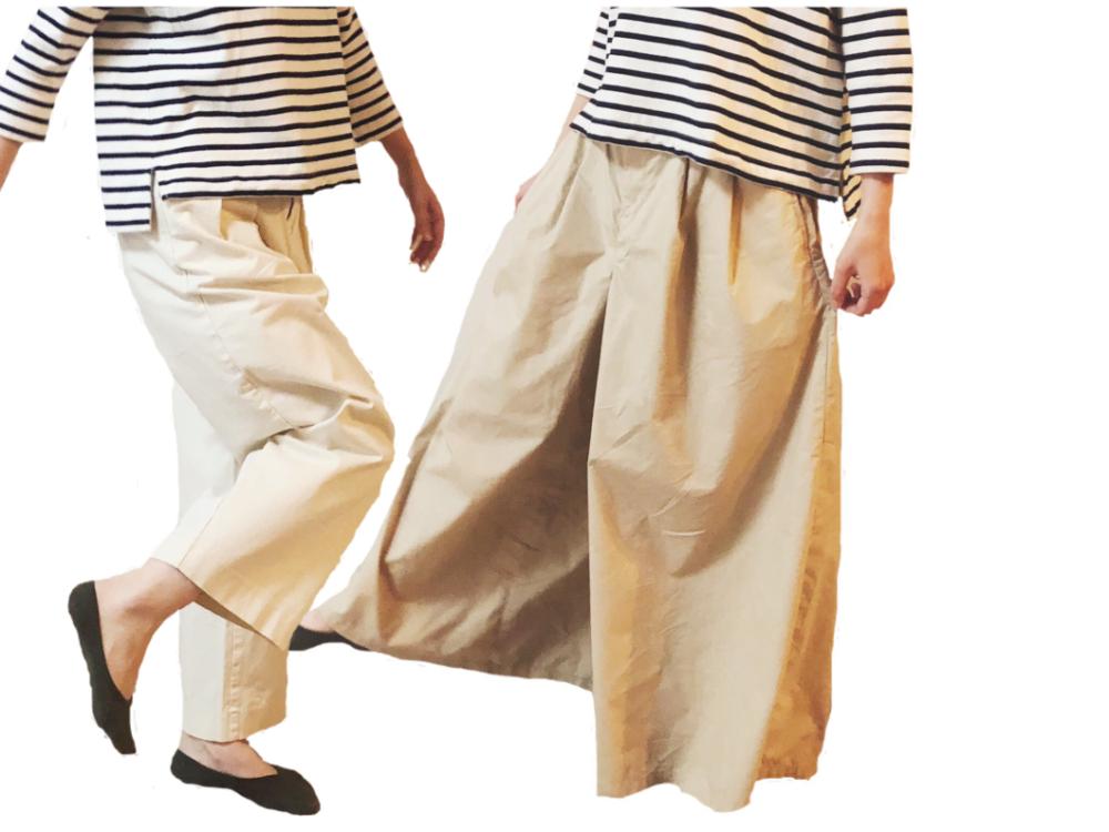 オーガニックコットン縦横ストレッチチノイージーワイドパンツ,綿混ダンプイージーワイドパンツ,無印良品