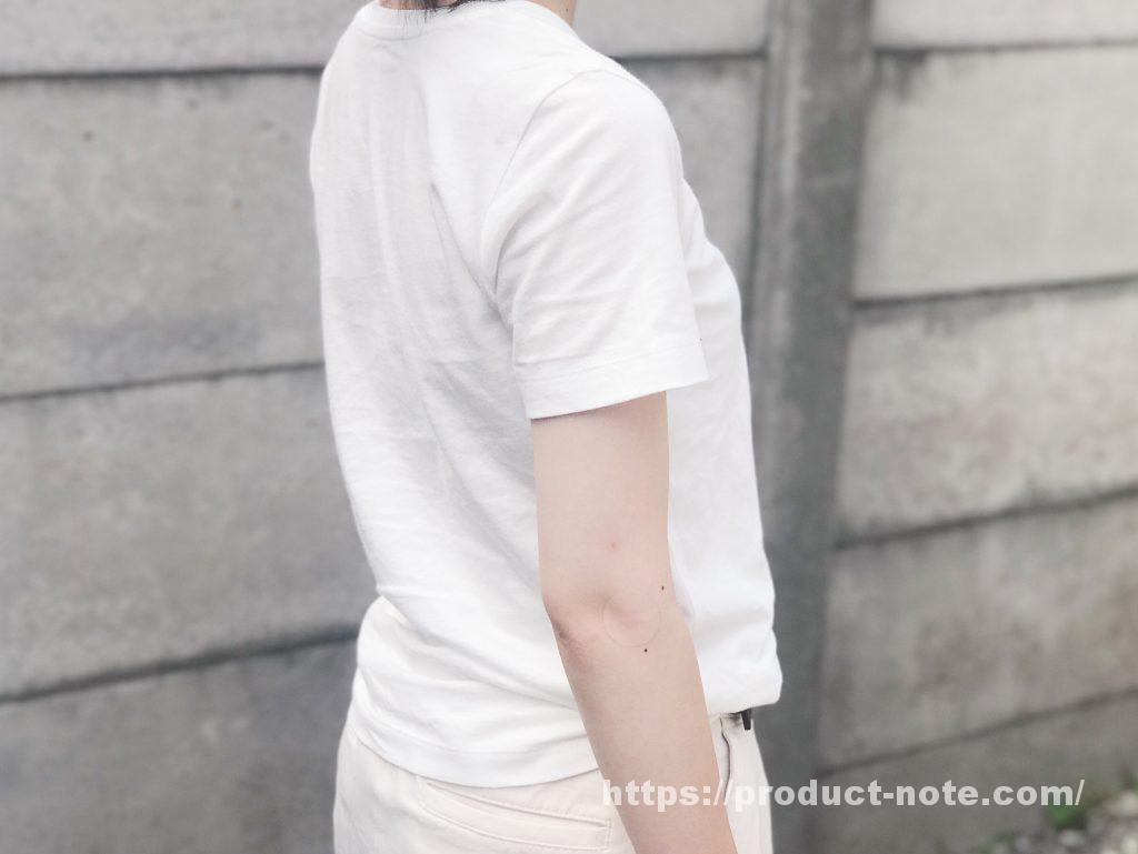 無印良品のオーガニックコットンVネック半袖Tシャツ