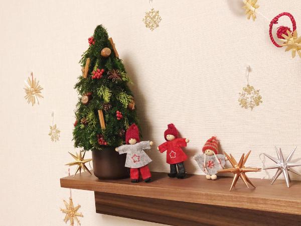 ブリザーブドフラワーの卓上クリスマスツリー,無印良品